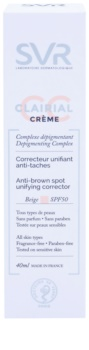 SVR Clairial Crema CC de unificare împotriva petelor pigmentare SPF 50