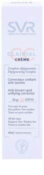 SVR Clairial Crema CC de unificare împotriva petelor pigmentare SPF50