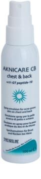 Synchroline Aknicare  CB emulze ve spreji redukující projevy akné na hrudi a zádech
