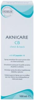 Synchroline Aknicare  CB Emulsion im Spray zur Reduktion von Akne auf Brust un Rücken
