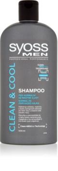 Syoss Men Clean & Cool šampón pre normálne až mastné vlasy