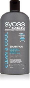 Syoss Men Clean & Cool shampoing pour cheveux normaux à gras