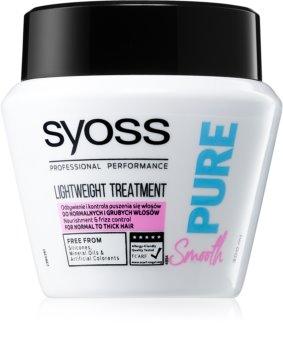Syoss Pure Smooth maschera nutriente per capelli lisci e luminosi