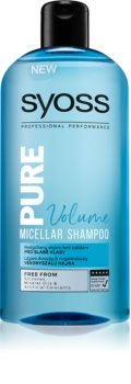 Syoss Pure Volume Volumizing Micellar Shampoo For Weak Hair