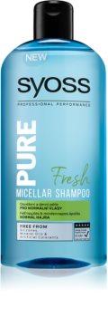 Syoss Pure Fresh osvežujoči micelarni šampon za normalne lase