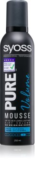 Syoss Pure Volume Styling Mousse For Long - Lasting Volume