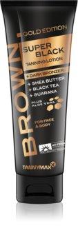 Tannymaxx Brown Super Black Gold Edition Solarium Tanning Cream with Bronzer
