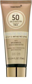Tannymaxx Protective Body Care SPF водостійке сонцезахисне молочко для обличчя SPF 50
