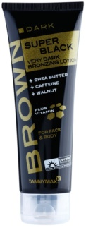 Tannymaxx Brown Super Black Dark crema abbronzante per solarium con effetto brillante