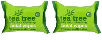 Tea Tree Facial Wipes tisztító törlőkendő az arcra