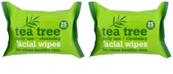 Tea Tree Facial Wipes toallitas limpiadoras para el rostro