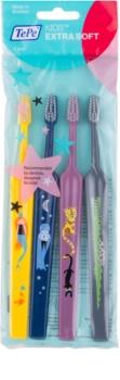 TePe Kids spazzolini da denti per bambini extra soft 4 pz