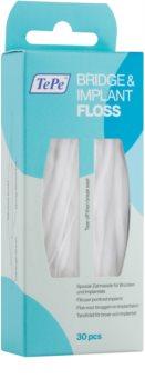TePe Bridge & Implant Floss fio dental especial para limpeza de implantes