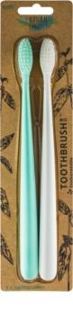 The Natural Family Co. Bio szczoteczki do zębów soft 2 szt.