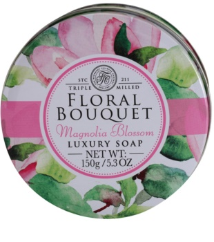 The Somerset Toiletry Co. Floral Bouquet Magnolia Blossom Luxurious Bar Soap