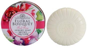 The Somerset Toiletry Co. Floral Bouquet Red Rose luxusní tuhé mýdlo