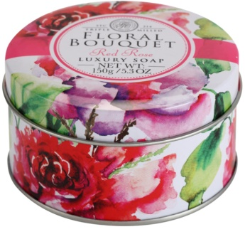 The Somerset Toiletry Co. Floral Bouquet Red Rose luxuriöse Feinseife