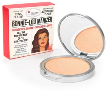theBalm Bonnie - Lou Manizer corector iluminator, pudra cu efect de stralucire si fard de ochi intr-unul singur