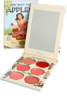 theBalm How 'Bout Them Apples? estuche de maquillaje coloretes y barras de labios textura crema