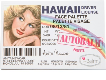 theBalm Autobalm Hawaii paleta pentru fata multifunctionala