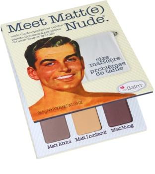 theBalm Meet Matt(e) Nude paleta farduri de ochi