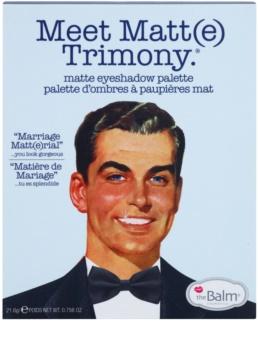 theBalm Meet Matte(e) Trimony paleta cieni do powiek z lusterkiem