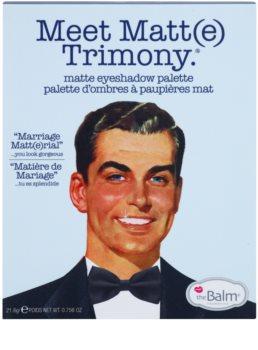 theBalm Meet Matte(e) Trimony paleta farduri de ochi cu oglinda mica