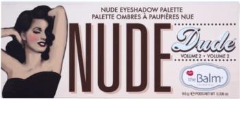 theBalm Nude Dude paleta farduri de ochi cu pensula