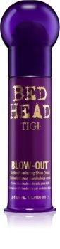 TIGI Bed Head Blow-Out creme dourado resplandecente para alisamento de cabelo