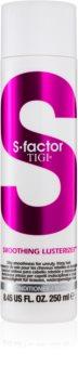 TIGI S-Factor Smoothing Lusterizer condicionador para cabelos crespos e inflexíveis