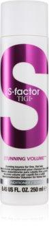 TIGI S-Factor Stunning Volume après-shampoing pour cheveux fins et mous