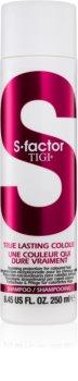 TIGI S-Factor True Lasting Colour защитен шампоан  за боядисана коса