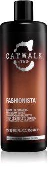 TIGI Catwalk Fashionista šampon za tople odtenke rjavih las