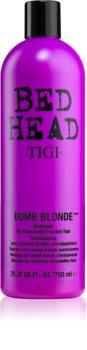 TIGI Bed Head Dumb Blonde shampoing pour cheveux traités chimiquement