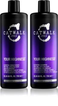 TIGI Catwalk Your Highness kozmetika szett VIII. (a finom hajért)