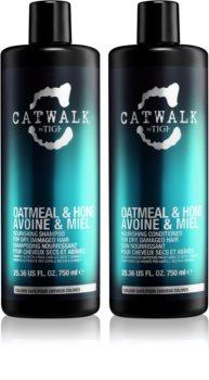 TIGI Catwalk Oatmeal & Honey kozmetični set I. (za poškodovane lase)