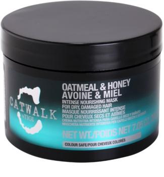 TIGI Catwalk Oatmeal & Honey intenzívna vyživujúca maska pre suché a poškodené vlasy