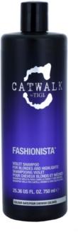 TIGI Catwalk Fashionista lila sampon a szőke és melírozott hajra