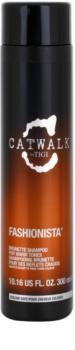 TIGI Catwalk Fashionista sampon pentru nuanțe calde de păr maro