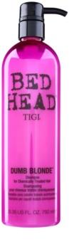 TIGI Bed Head Dumb Blonde šampon pro chemicky ošetřené vlasy