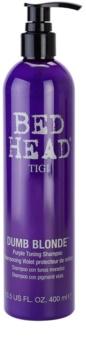 TIGI Bed Head Dumb Blonde champú violeta matificante para cabello rubio