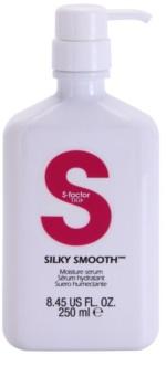 TIGI S-Factor Smoothing hidratáló szérum a hajformázáshoz, melyhez magas hőfokot használunk