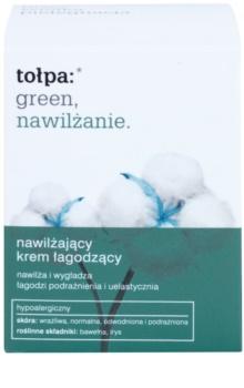Tołpa Green Moisturizing crema hidratante y calmante con efecto alisante