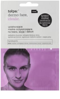 Tołpa Dermo Face Idealic máscara de limpesa rejuvenescedora para rosto, pescoço e decote