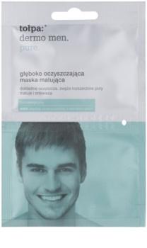 Tołpa Dermo Men Pure hloubkově čisticí maska pro matný vzhled pleti