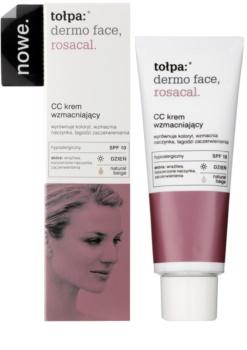 Tołpa Dermo Face Rosacal creme CC para peles com tendência à vermelhidão SPF 10