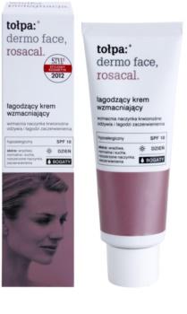 Tołpa Dermo Face Rosacal bohatý zklidňující krém pro pleť se sklonem k zarudnutí SPF 10