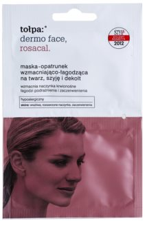 Tołpa Dermo Face Rosacal máscara calmante para a pele avermelhada e irritada para rosto, pescoço e decote