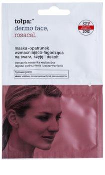 Tołpa Dermo Face Rosacal maseczka łagodząca do skóry zaczerwienionej i podrażnionej do twarzy, szyi i dekoltu