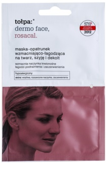 Tołpa Dermo Face Rosacal Soothing Mask for Red and Irritated Skin for Face, Neck and Chest